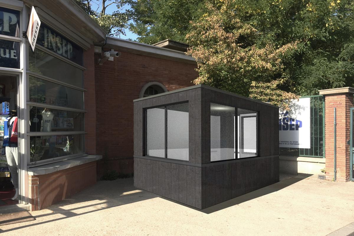 architecte-cabine-de-surveillance-INSEP-bois-brule-AREA-Studio
